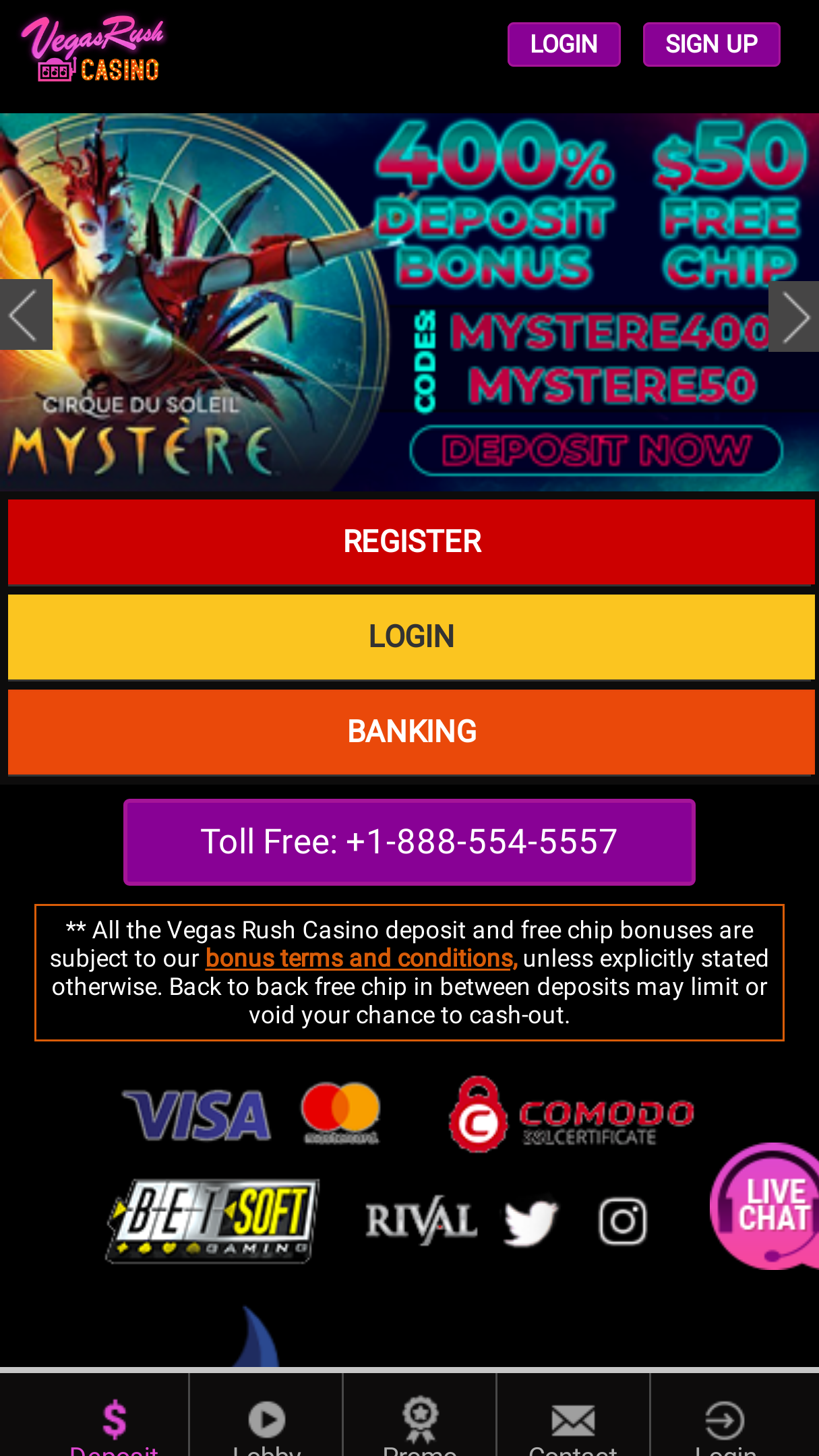 Vegasrush Casino App Download For Android Apk Iphone