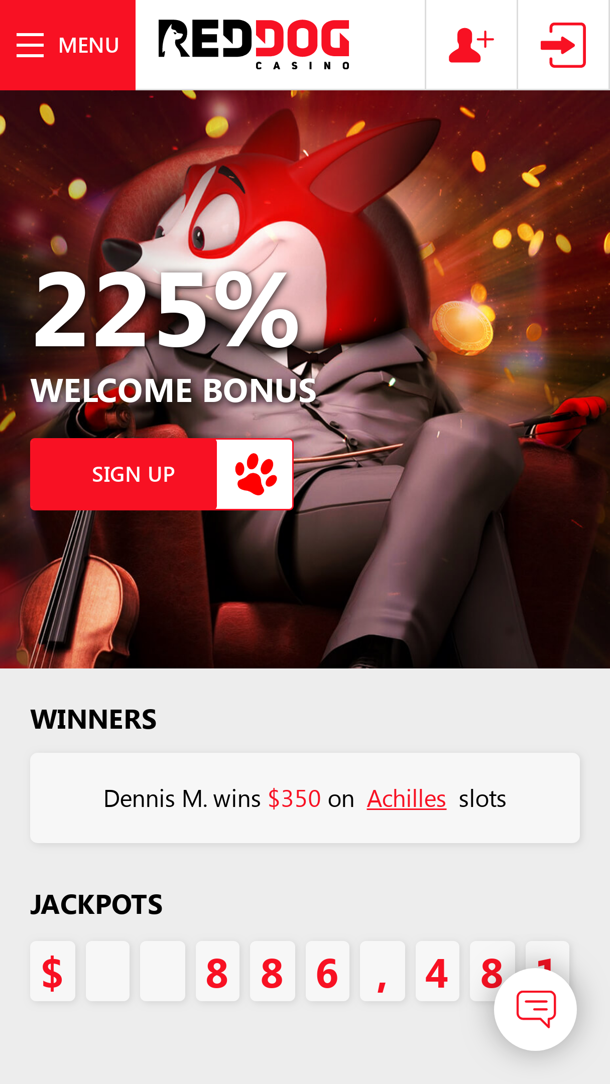 Red Dog Casino Login