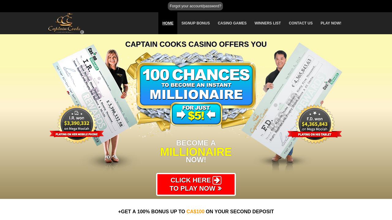 Captain Cooks Casino App