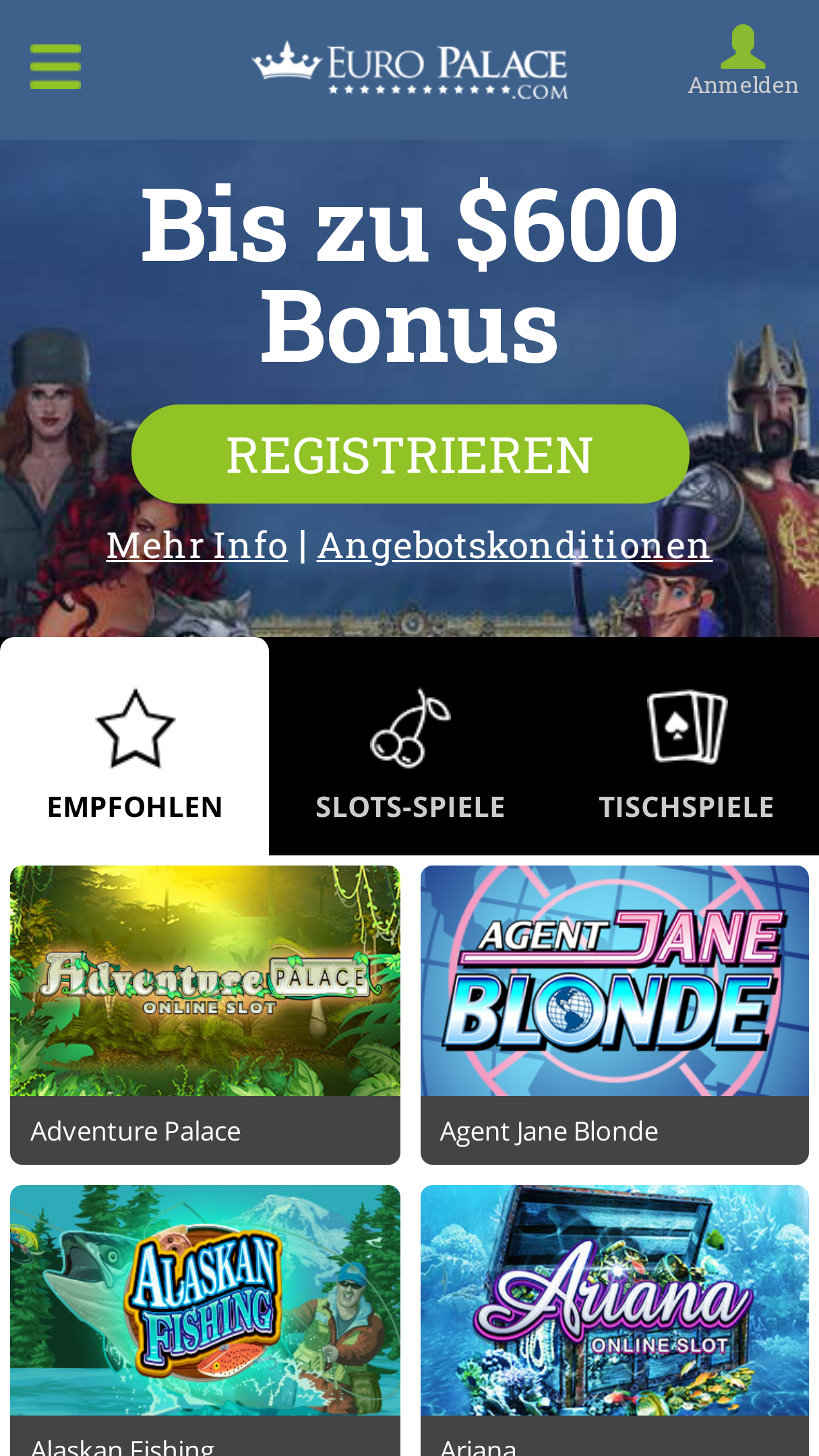 Europalace Casino Android