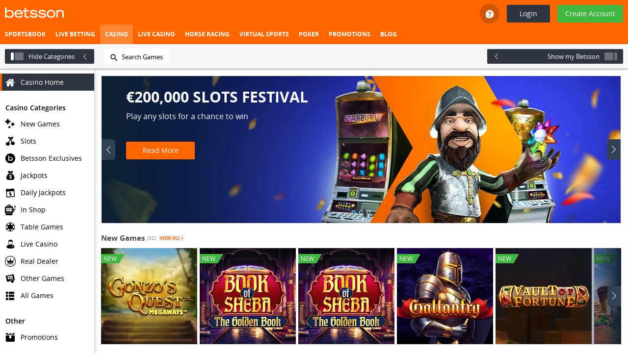 Betsson Casino App