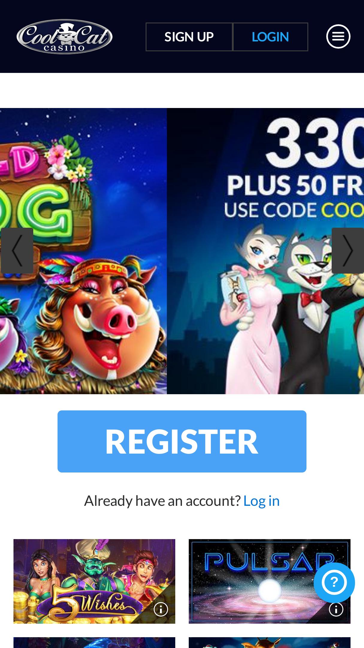 Coolcat Instant Play Casino