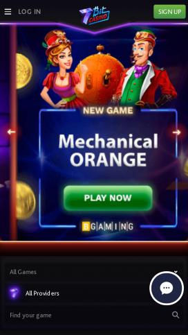 7Bit Casino App Homepage
