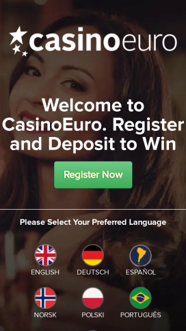 CasinoEuro App Homepage